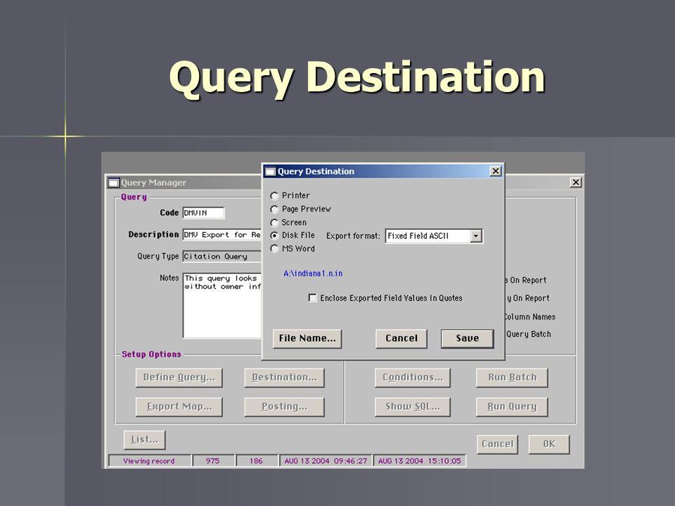 Query Destination