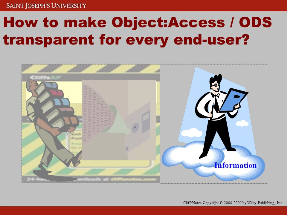 Reporting Tool How to make Object:Access / ODS transparent for every end-user.