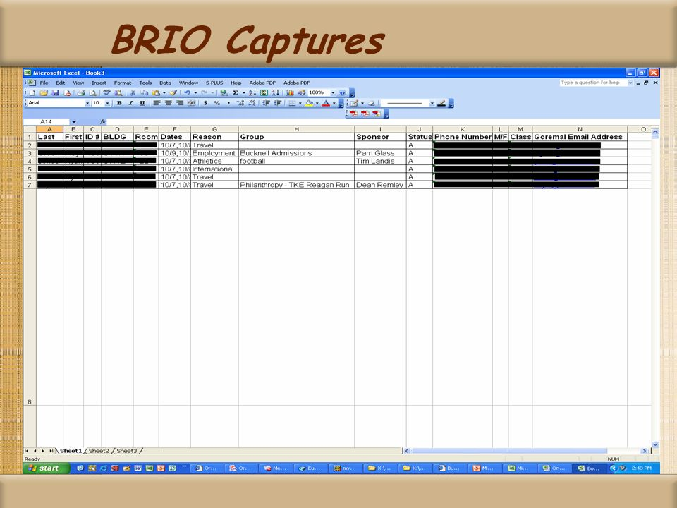 BRIO Captures