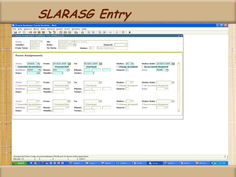 SLARASG Entry