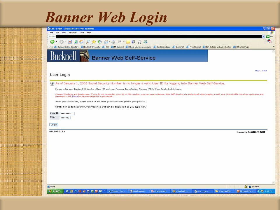 Banner Web Login