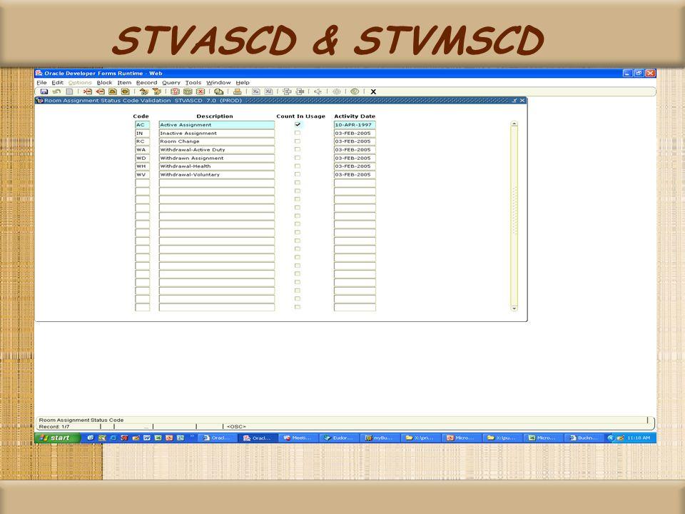 STVASCD & STVMSCD