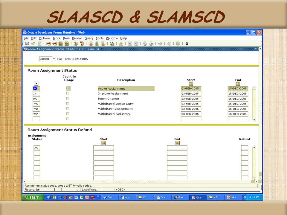 SLAASCD & SLAMSCD