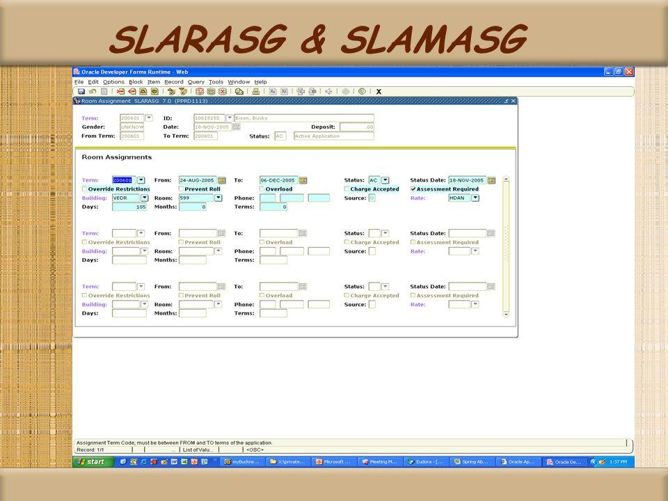 SLARASG & SLAMASG