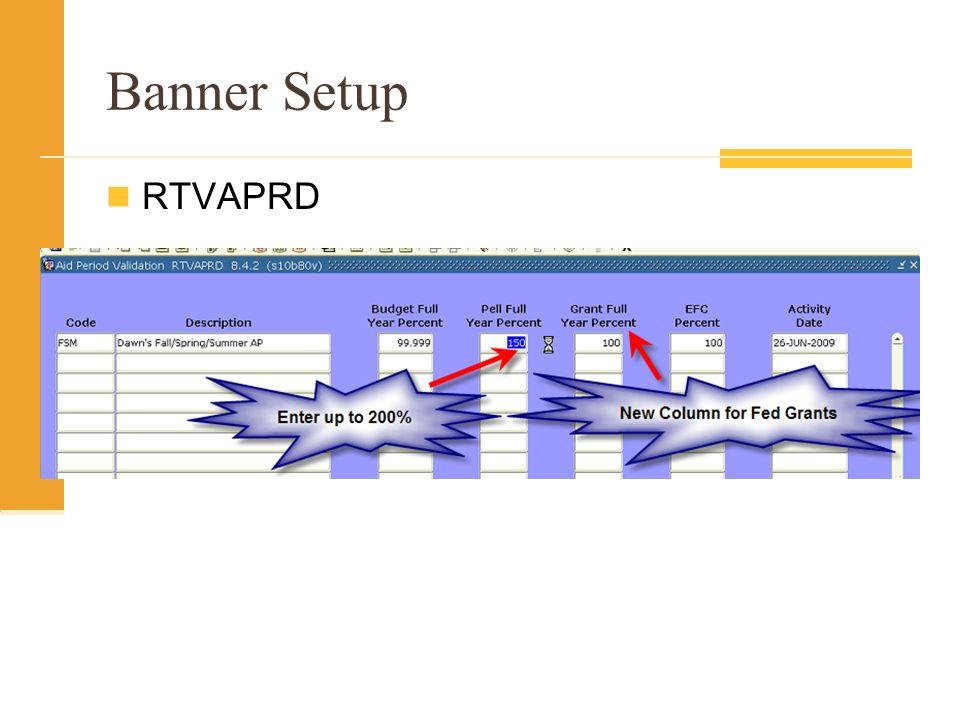 Banner Setup RTVAPRD