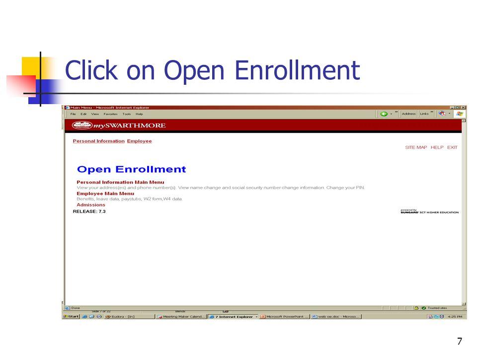 18 Banner Open Enrollment Set-up (2) PTRBDCA Web Information Change Web Description or Web Information URL if needed:
