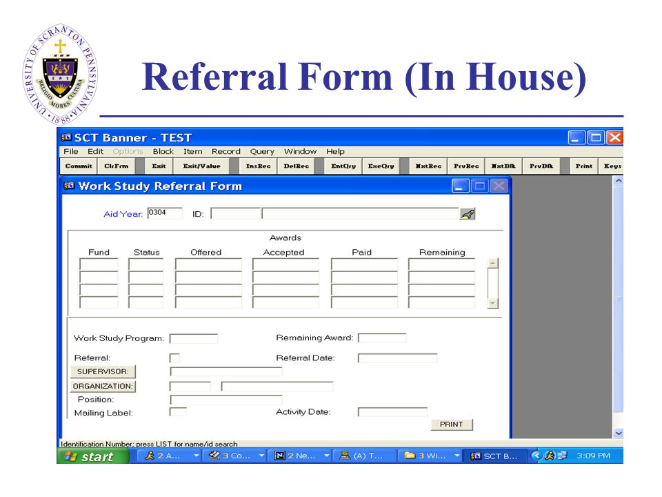 Referral Form (In House)