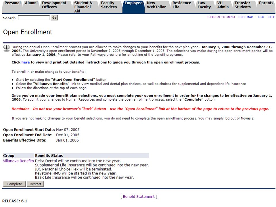 PA BUG | Making Open Enrollment Work For You | November 21, 2006 19