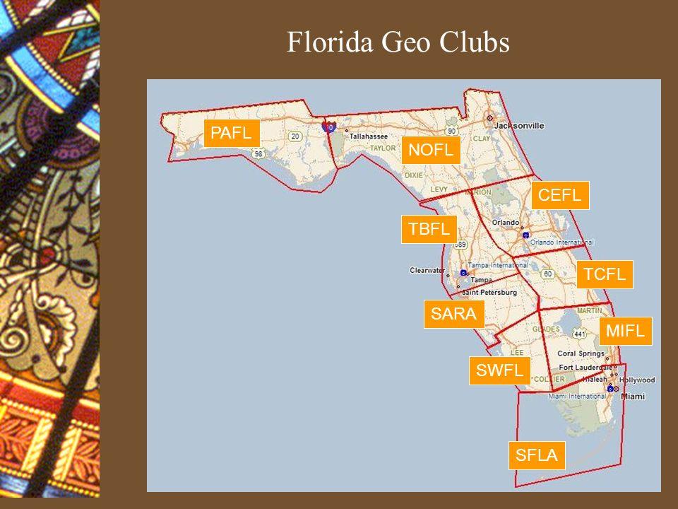 Florida Geo Clubs PAFL NOFL CEFL TBFL SARA MIFL TCFL SWFL SFLA