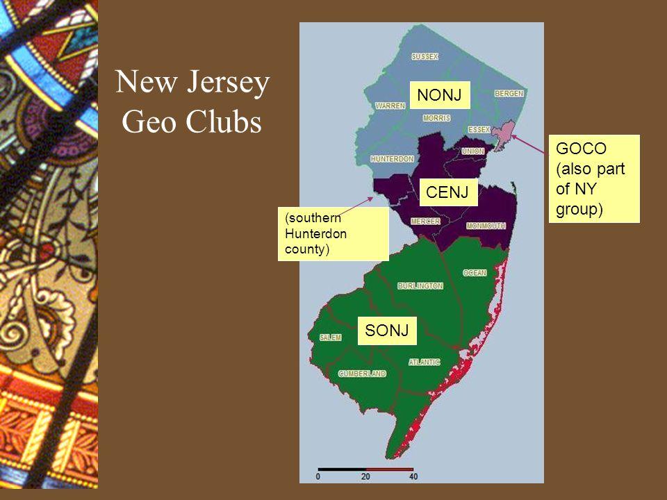 New England Geo Clubs MAIN (NY) (PA) (NJ) VERT NEWH CTVA FFCT RHIS BOST CCMA