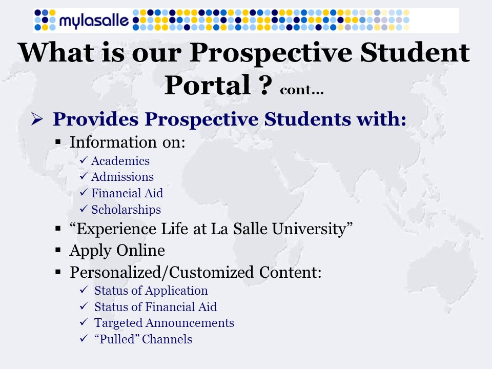 What is our Prospective Student Portal .