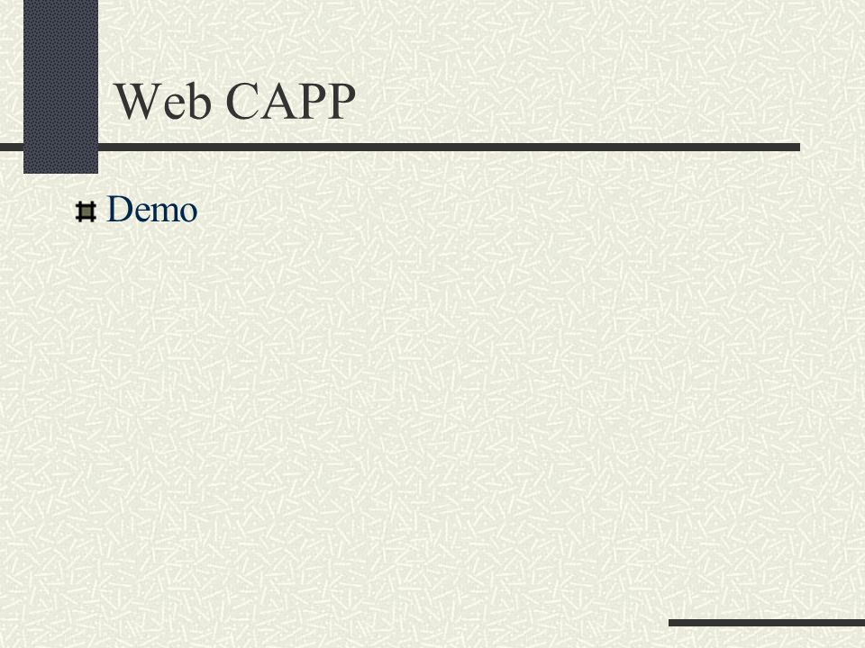 Web CAPP Demo
