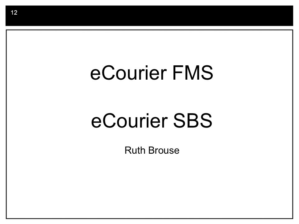 13.eCourier FMS What is eCourier FMS.