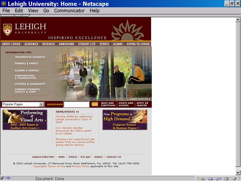 External web page