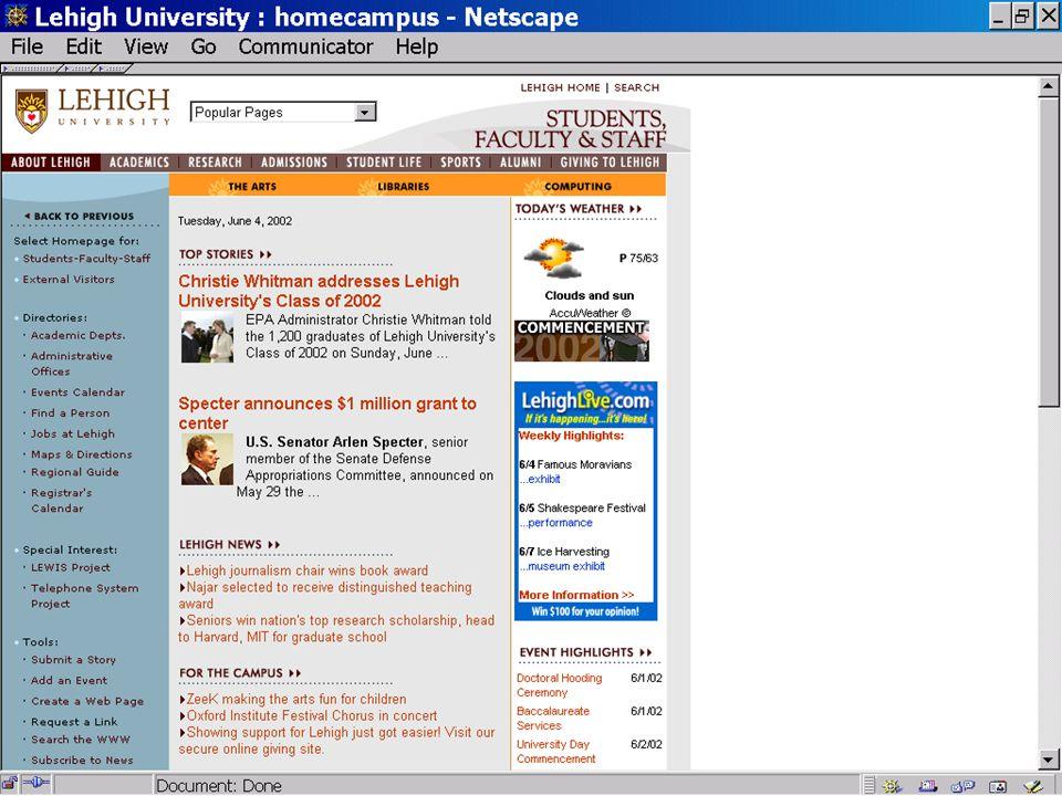 Internal Web page