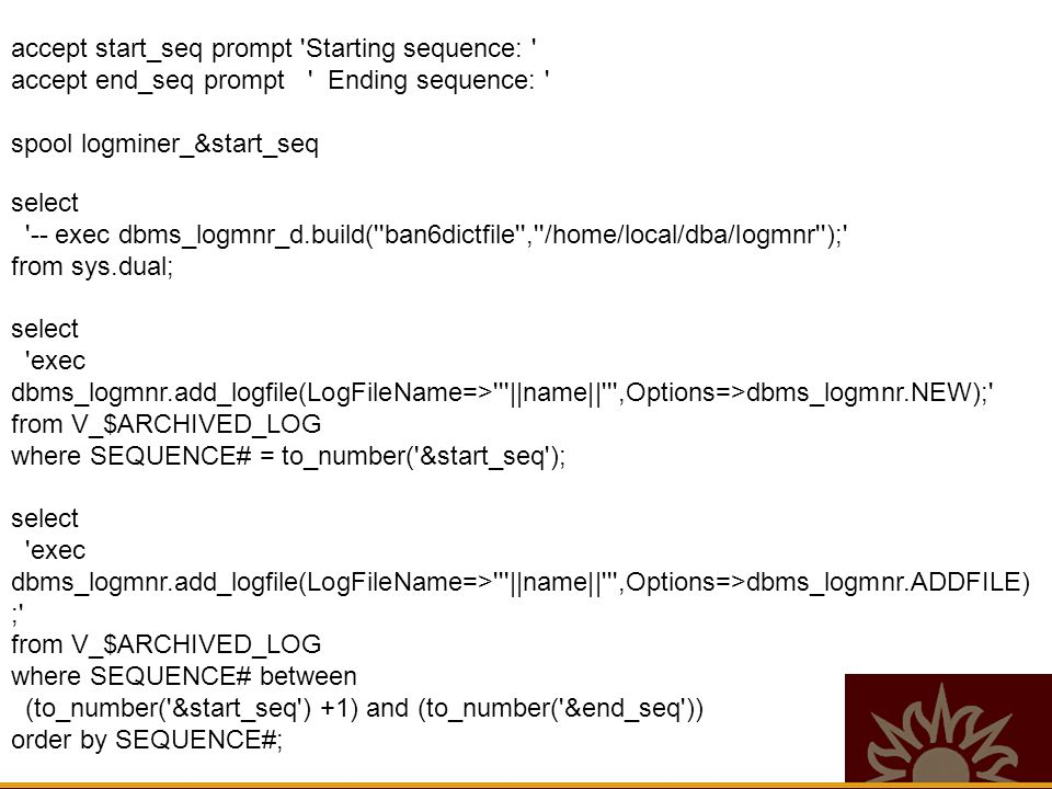 Flashback Enhancements - 10g Flashback table Flashback database Version(s) query