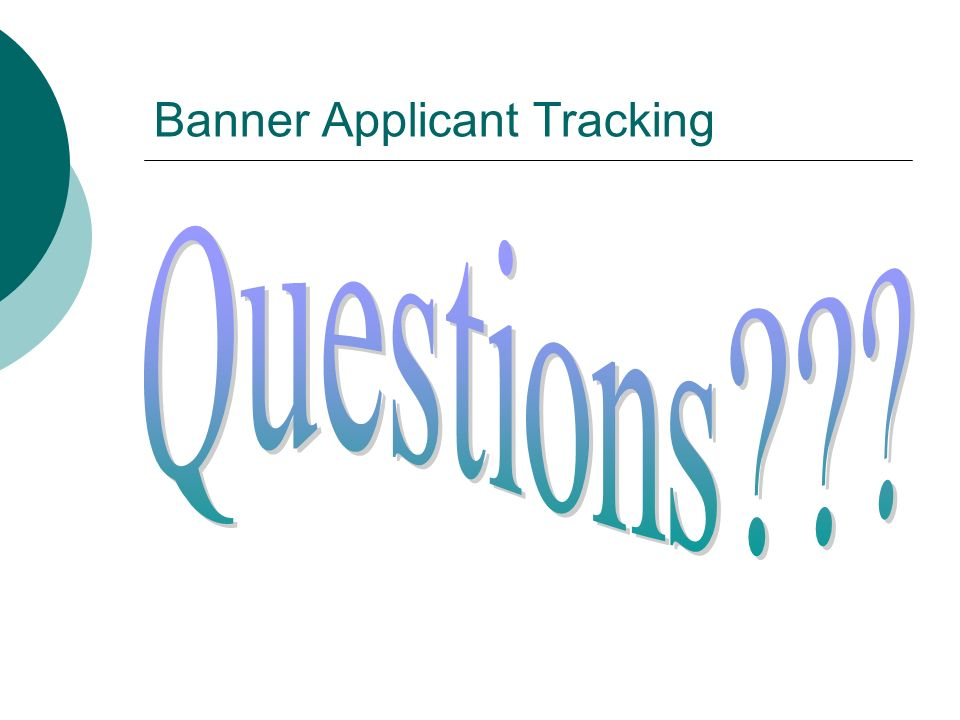 Banner Applicant Tracking