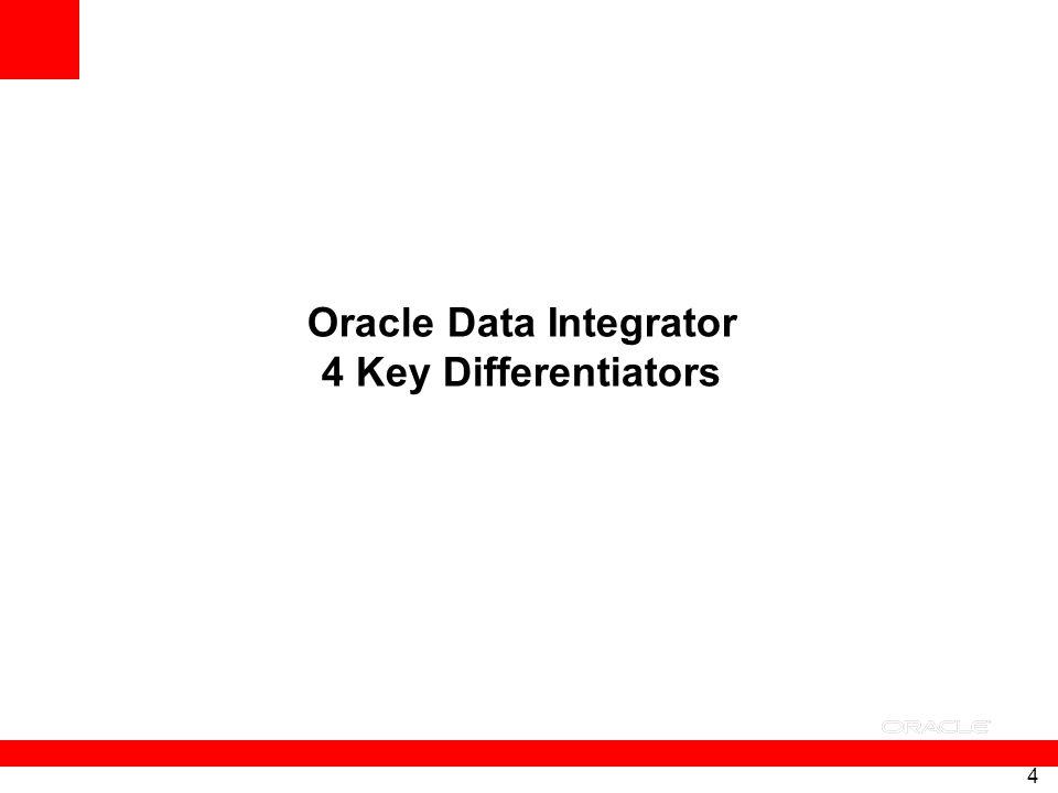 4 Oracle Data Integrator 4 Key Differentiators