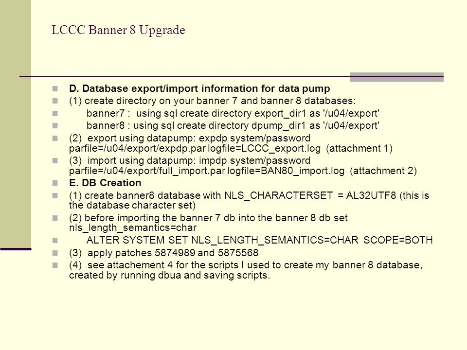 LCCC Banner 8 Upgrade D.