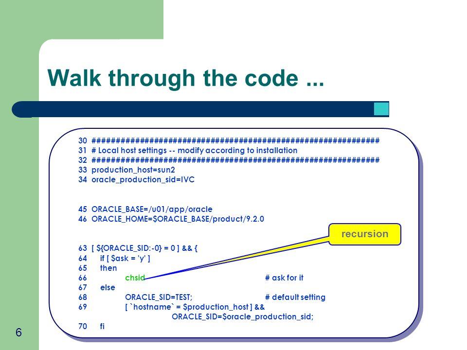 6 Walk through the code... 30 ############################################################# 31 # Local host settings -- modify according to installati