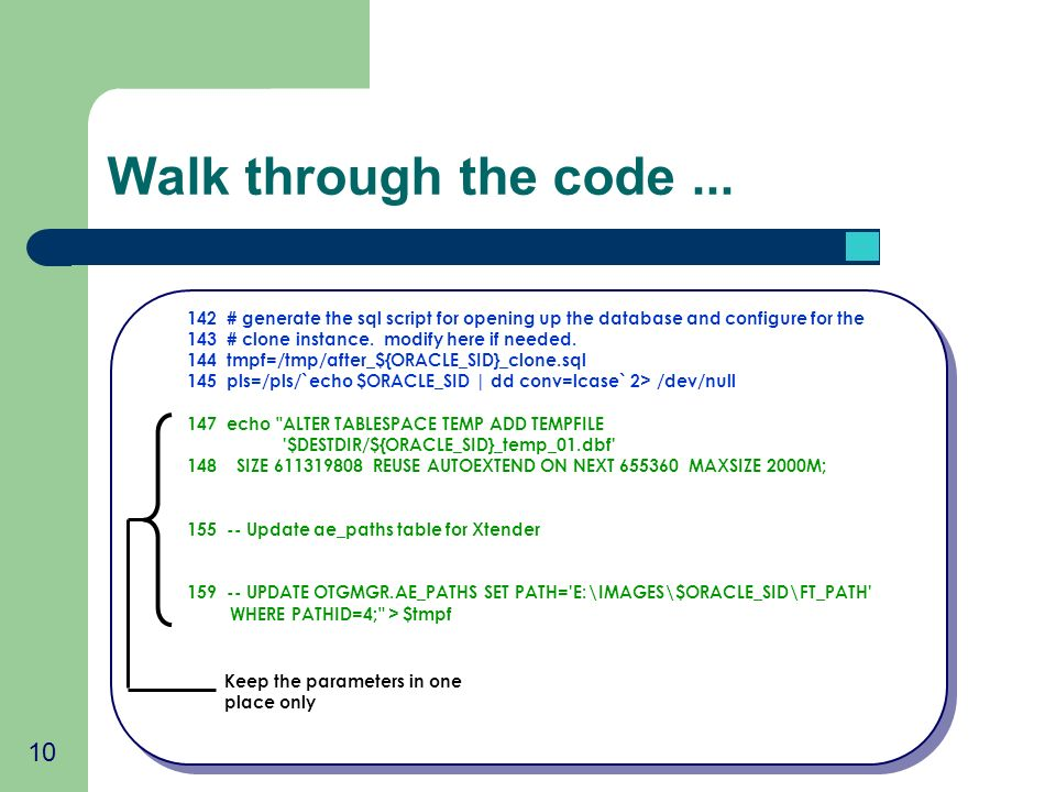 10 Walk through the code...