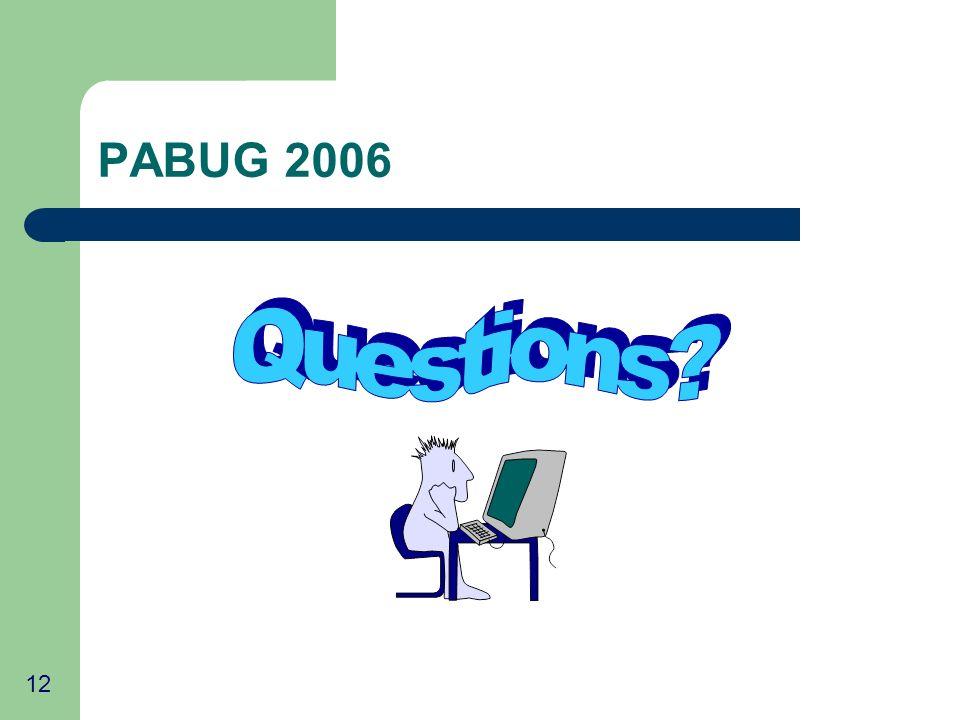 12 PABUG 2006