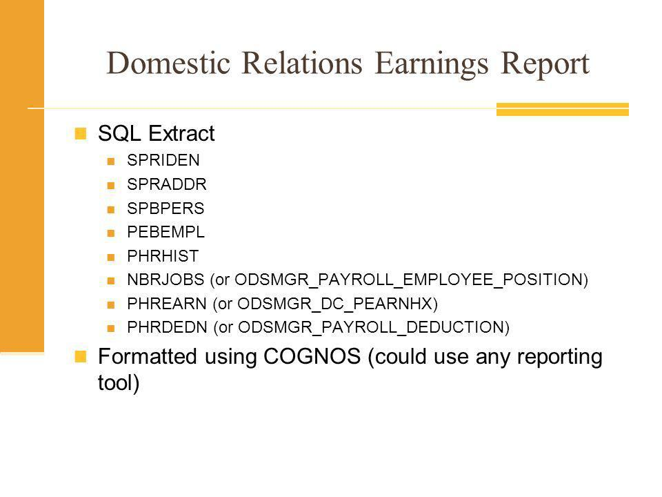 Domestic Relations Earnings Report Required to be returned as soon as possible. Legal requirement. Six Months worth of Gross Pay Includes Detailed Ded