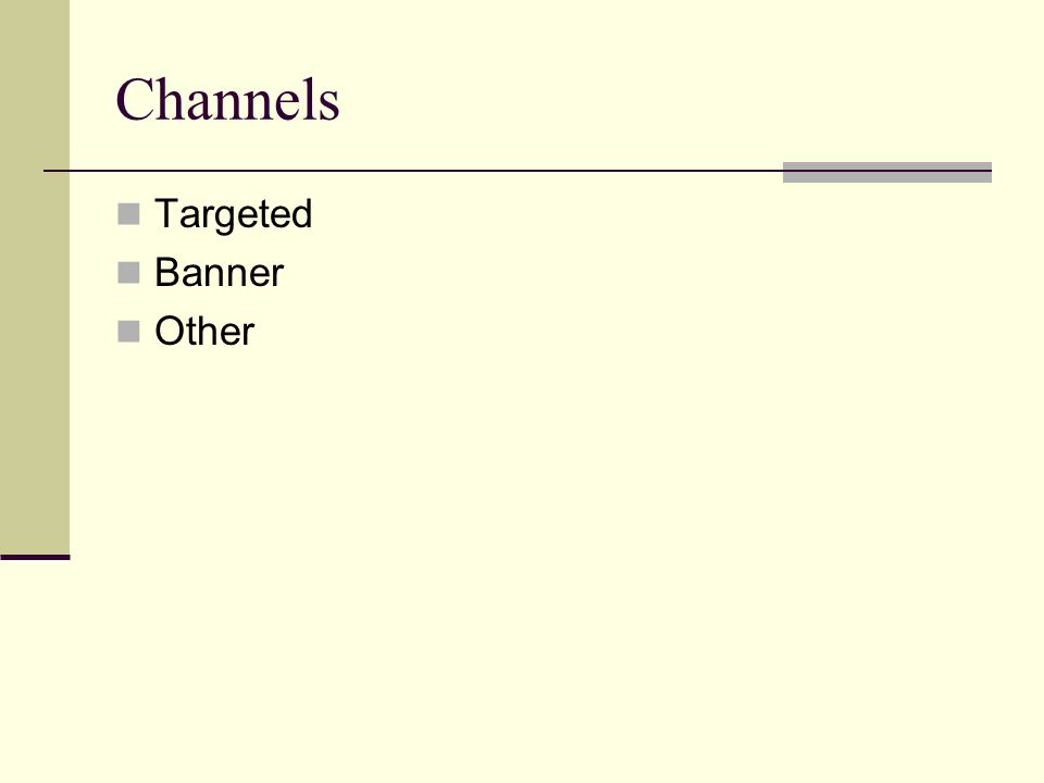 Channels Targeted Banner Other