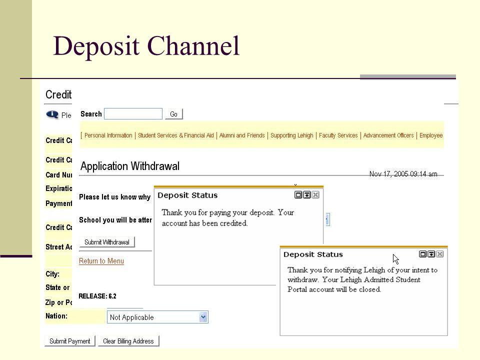 Deposit Channel