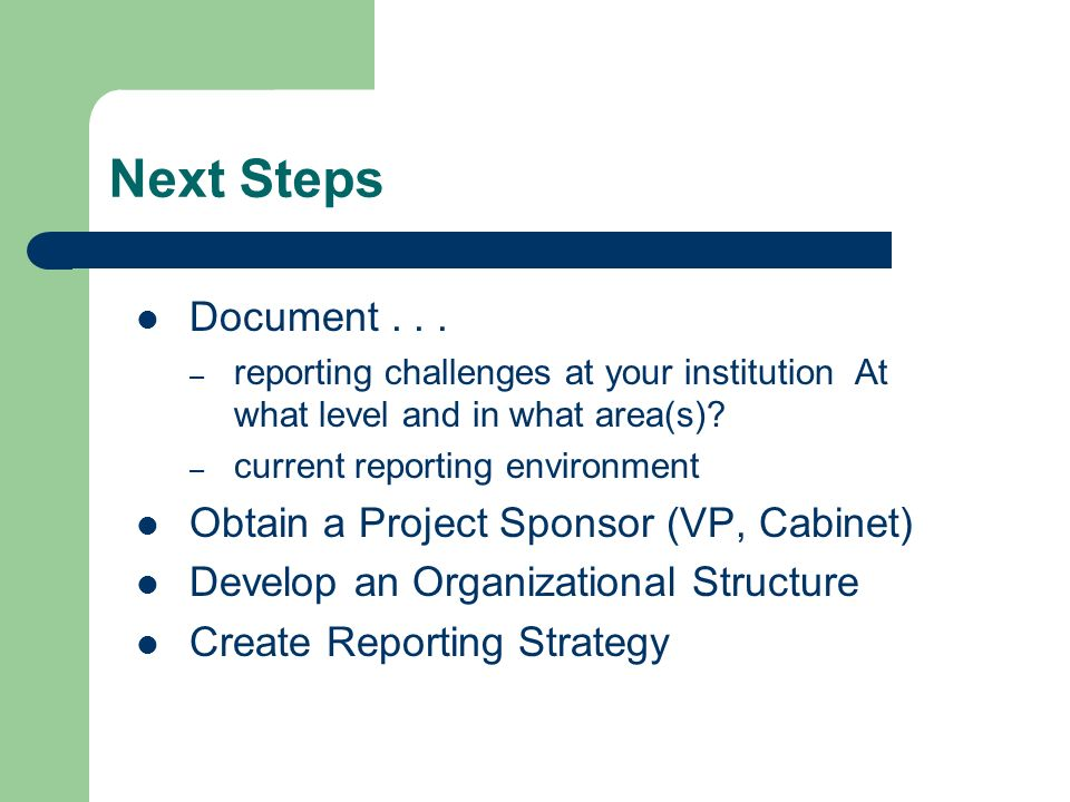 Next Steps Document...