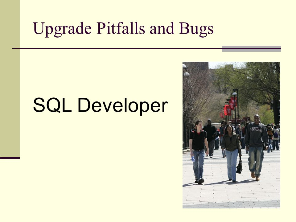 Upgrade Pitfalls and Bugs SQL Developer