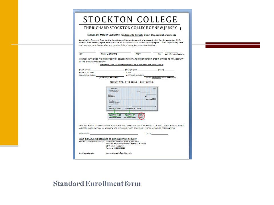 Standard Enrollment form