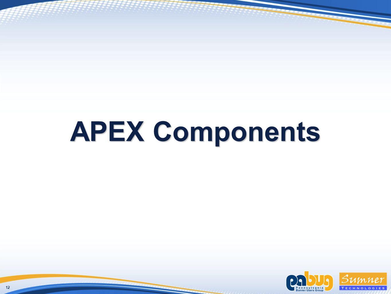 12 APEX Components