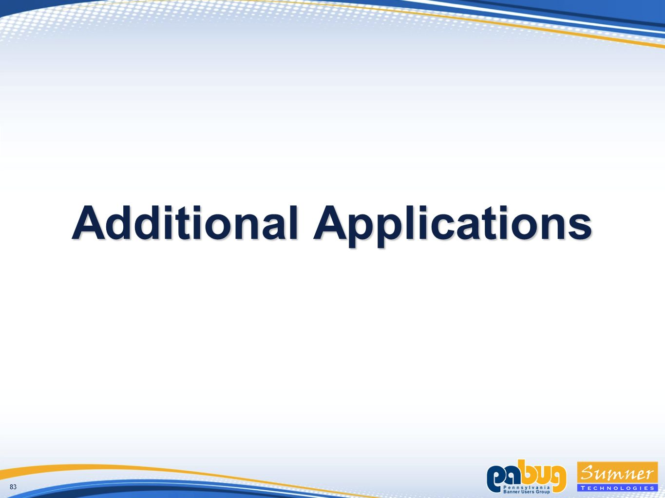83 Additional Applications