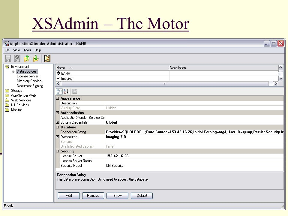 XSAdmin – The Motor