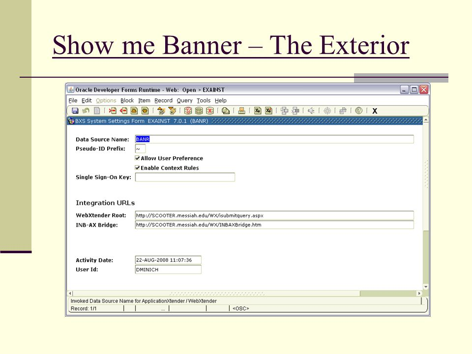 Show me Banner – The Exterior