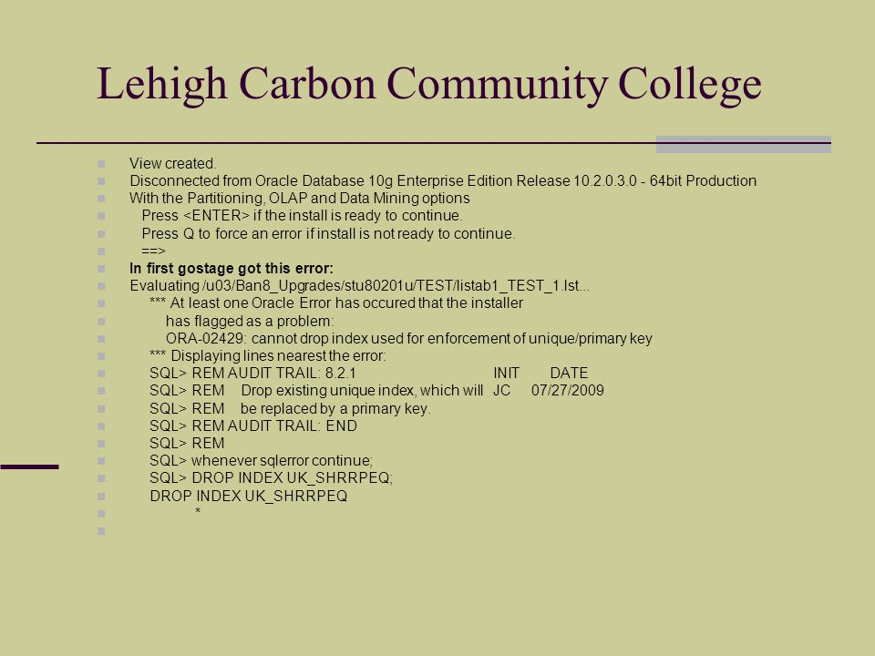 Lehigh Carbon Community College View created.