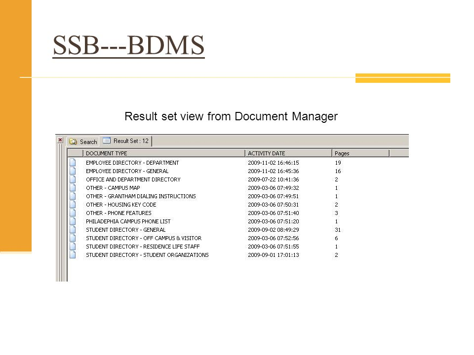 EOBPARM_NAMEEOBPARM_DOC_NAMEEOBPARM_PARMNAMEEOBPARM_ MAPNAME MC_SSB_BXS_FINVIEW.VIEW_ADMN_DOCSJOURNAL VOUCHERDOCUMENT_IDFIELD1 MC_SSB_BXS_FINVIEW.VIEW_ADMN_DOCSJOURNAL VOUCHERDOCUMENT_TYPEFIELD3 Select * from table where FIELD1 = DOCUMENT_ID and FIELD3 = DOCUMENT_TYPE Select * from table where FIELD1 = J0012852 and FIELD3 = JOURNAL VOUCHER B-F-DOCS application