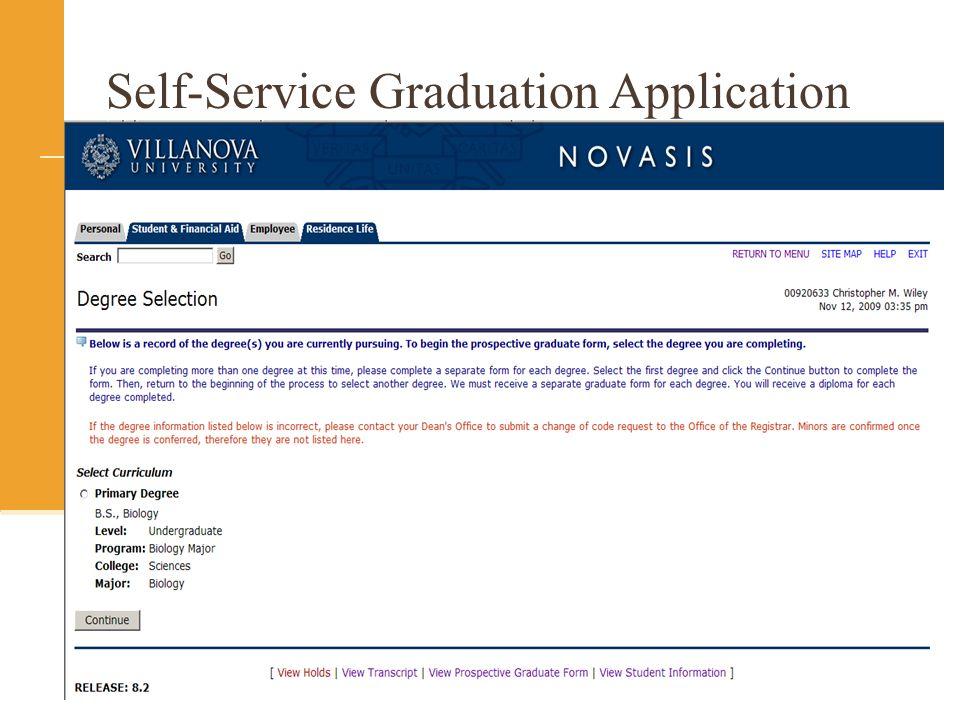 Self-Service Graduation Application