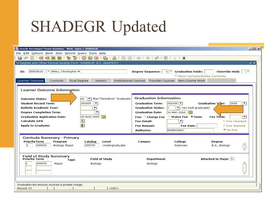 SHADEGR Updated