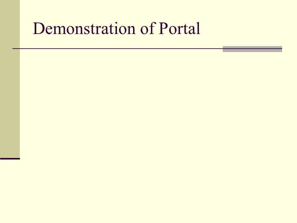 Demonstration of Portal