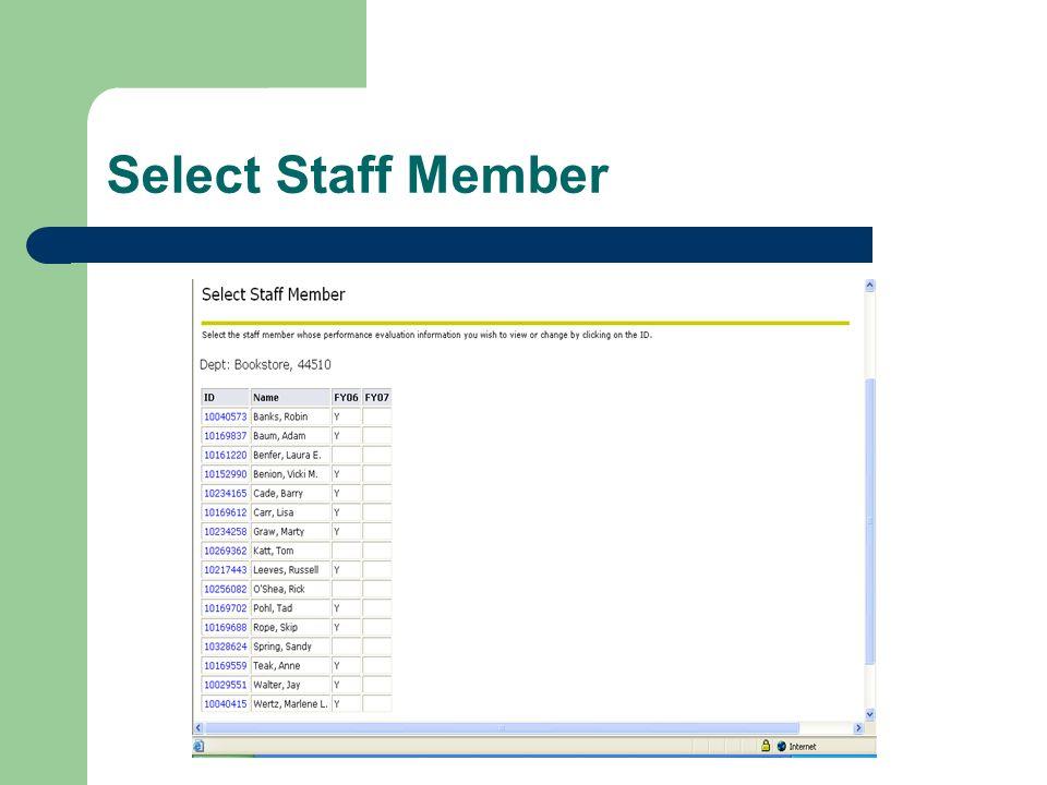 Select Staff Member