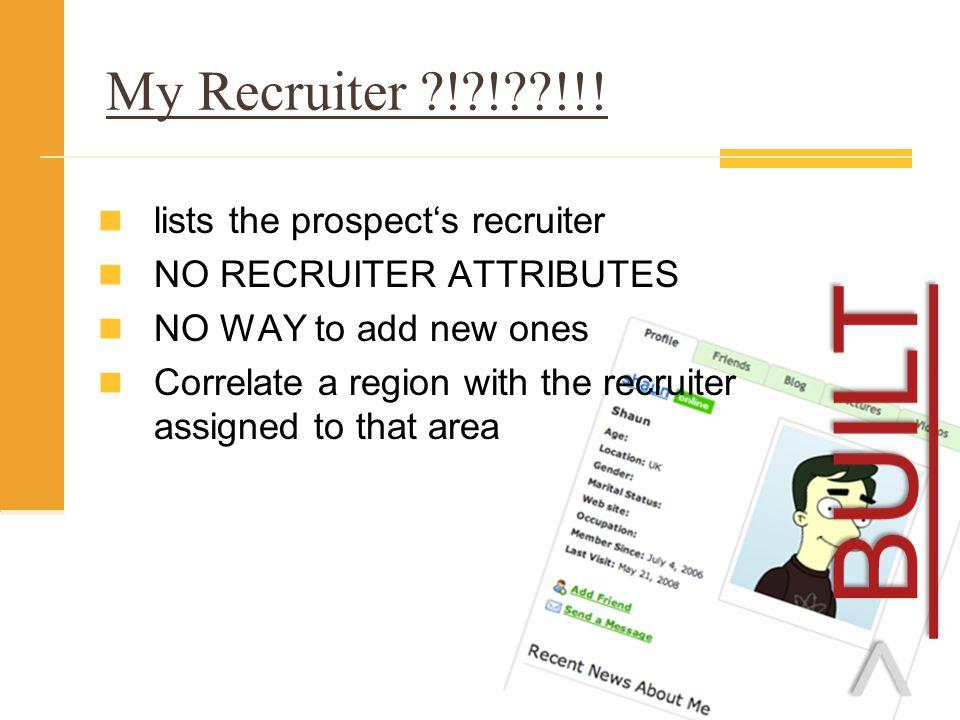 My Recruiter ! ! !!.