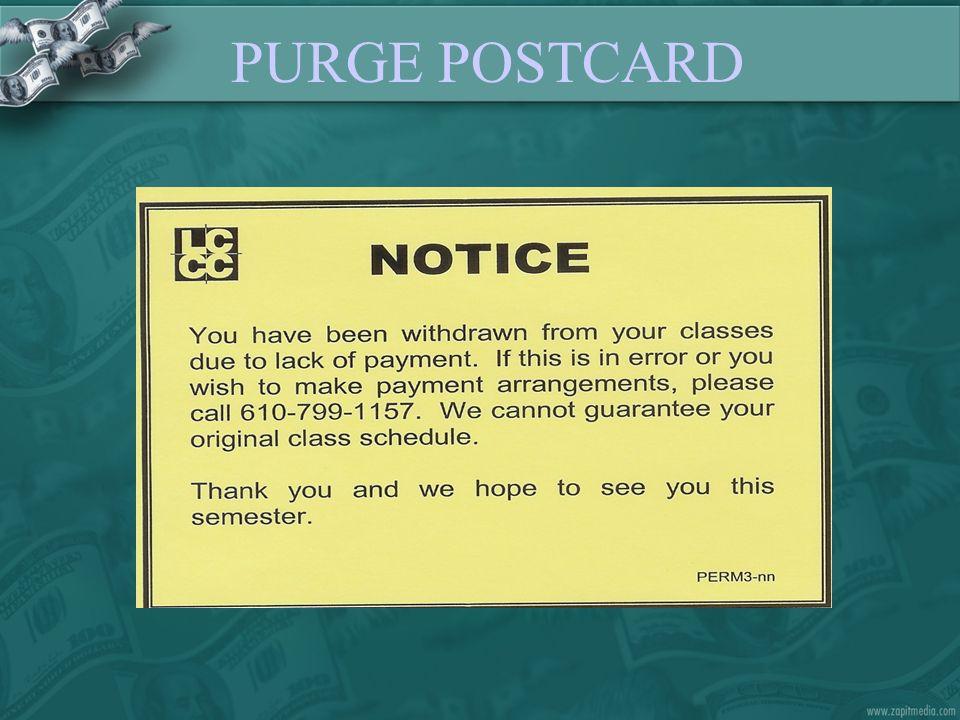 PURGE POSTCARD