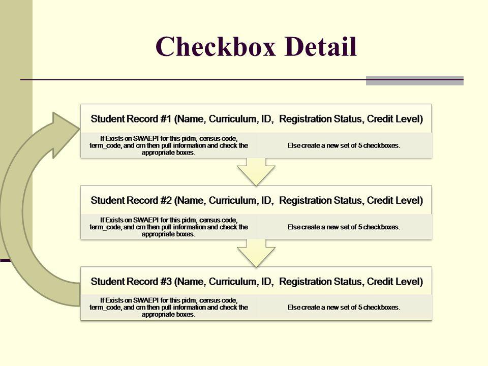 Checkbox Detail