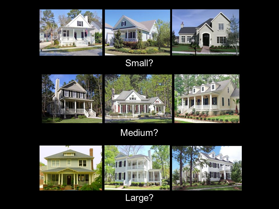 Small? Medium? Large?