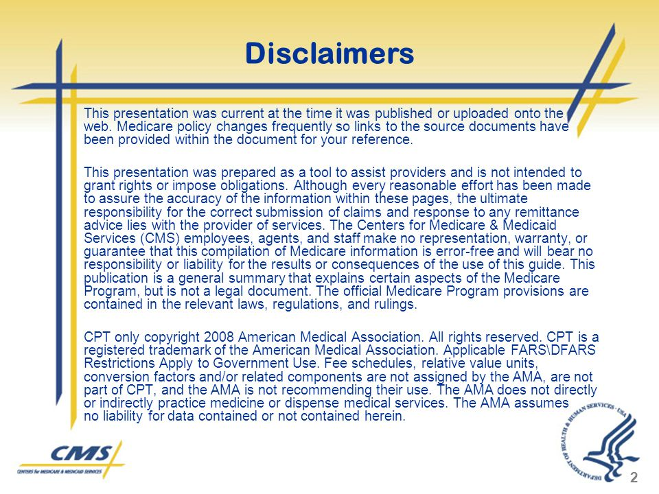2 Disclaimers This presentation was current at the time it was published or uploaded onto the web.