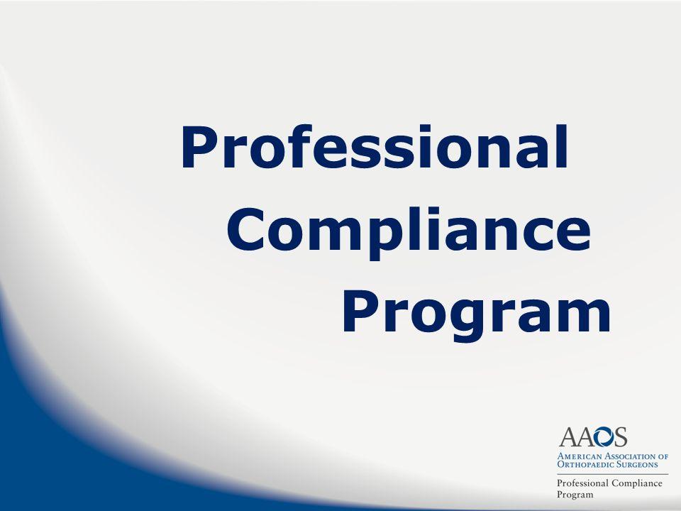 Professional Compliance Program