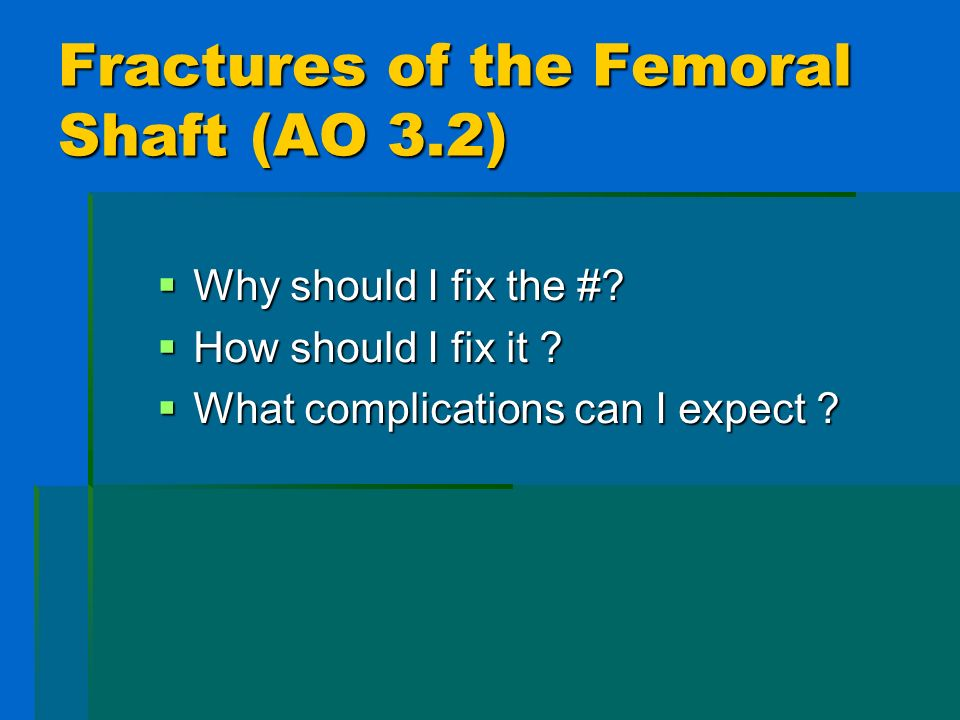 Malrotation > 10 degrees in 8-19% of fractures > 10 degrees in 8-19% of fractures JBJS 75 (B) 799-803 JBJS 75 (B) 799-803 JBJS 66 (A) 529-39 JBJS 66 (A) 529-39