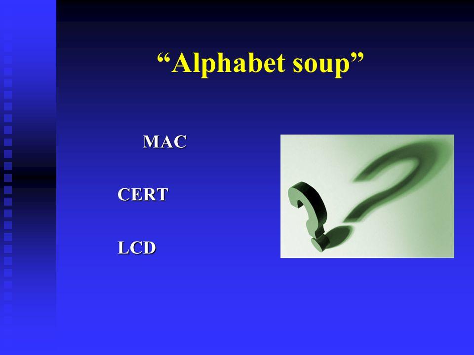 Alphabet soup MACCERTLCD